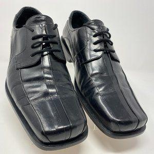Giorgio Brutini Men's Black Leather Oxfords 9 1/2
